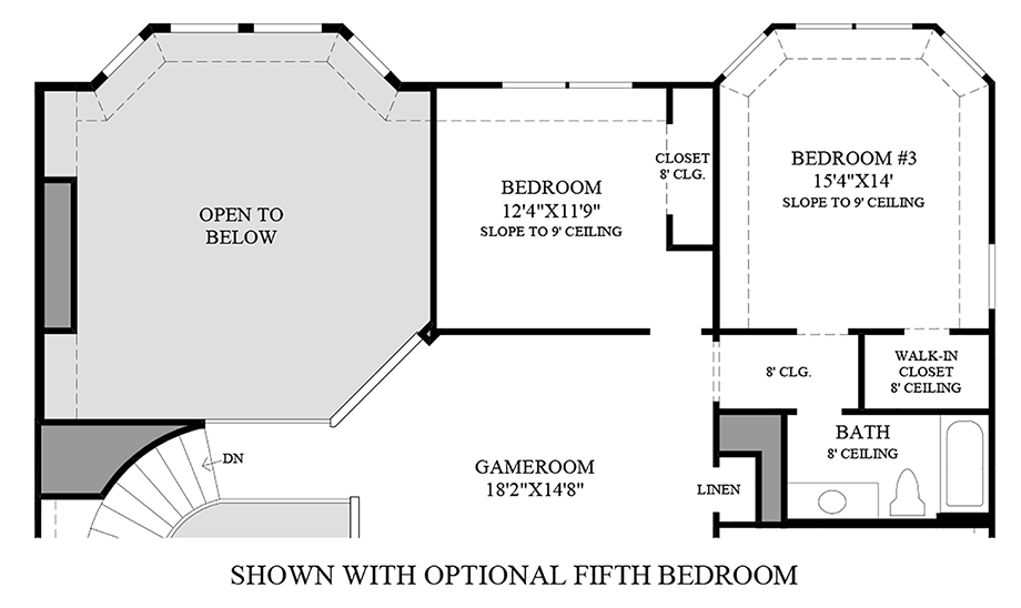 Optional Fifth Bedroom Floor Plan