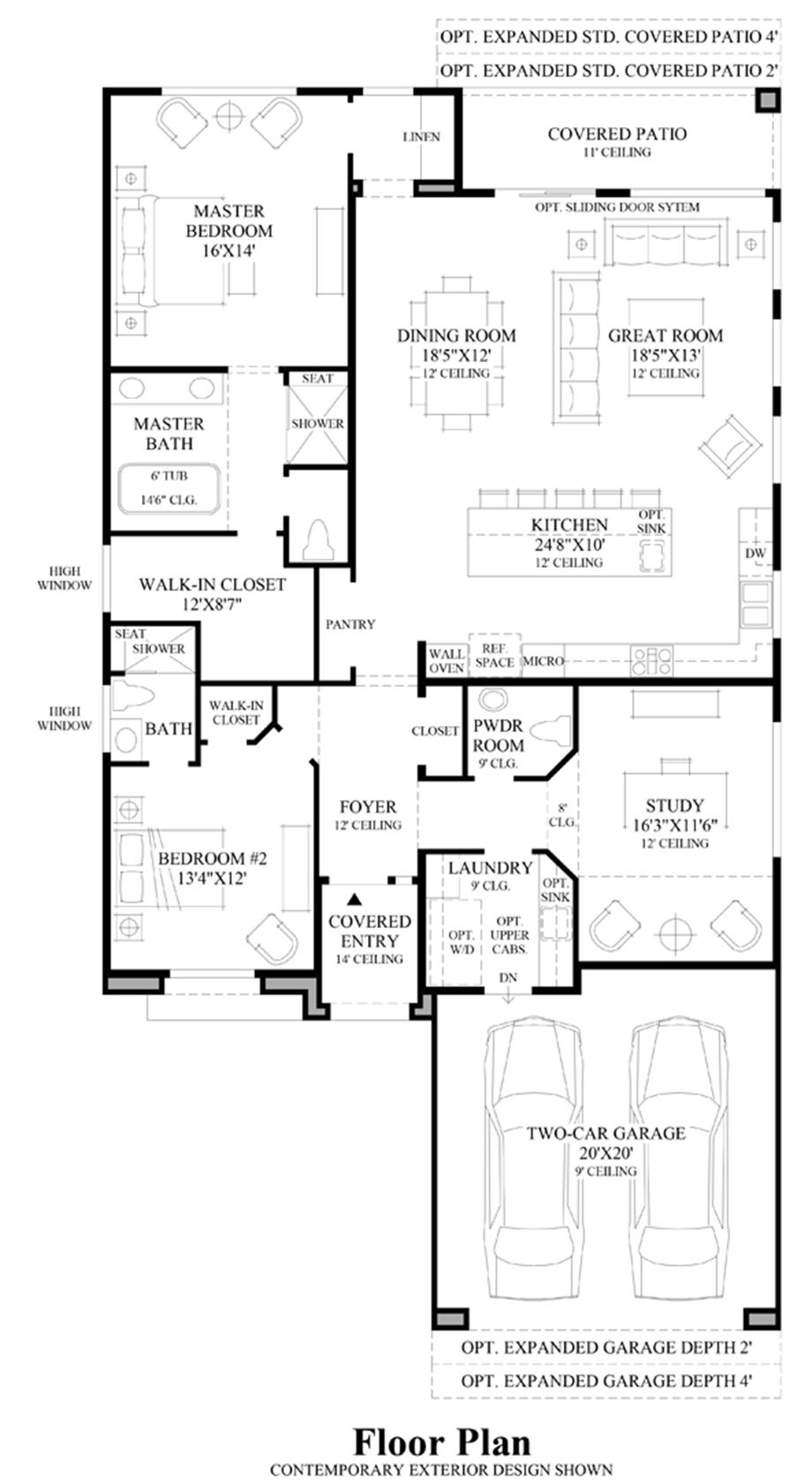 Windgate ranch scottsdale ocotillo collection the moda for Arizona floor plans