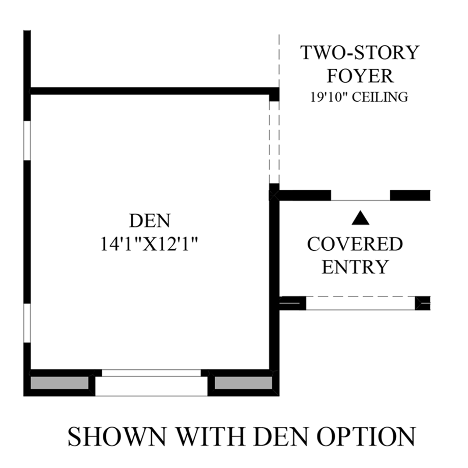 Optional Den Floor Plan