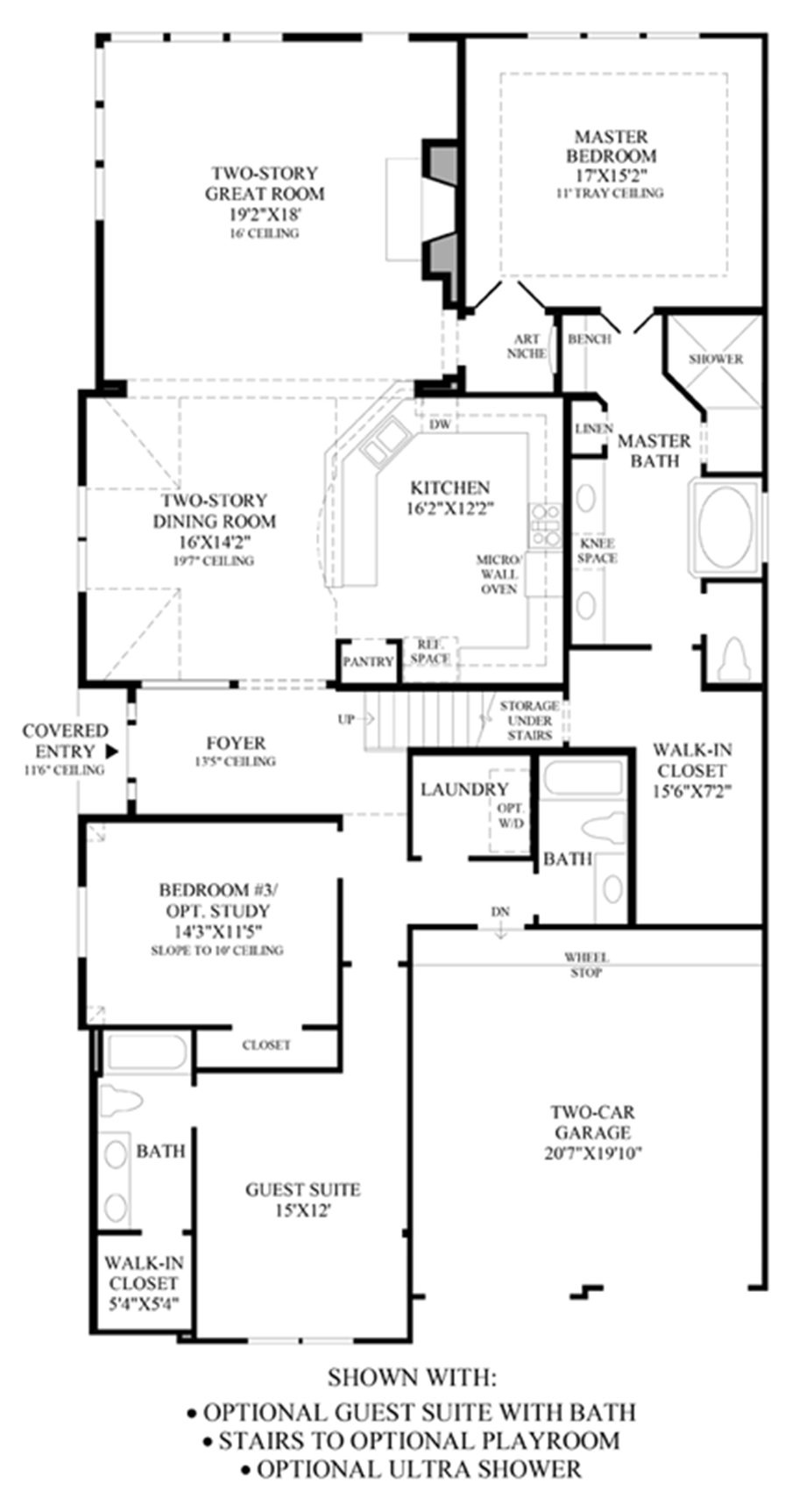 Optional Guest Suite with Bath/Stairs/Ultra Shower Floor Plan