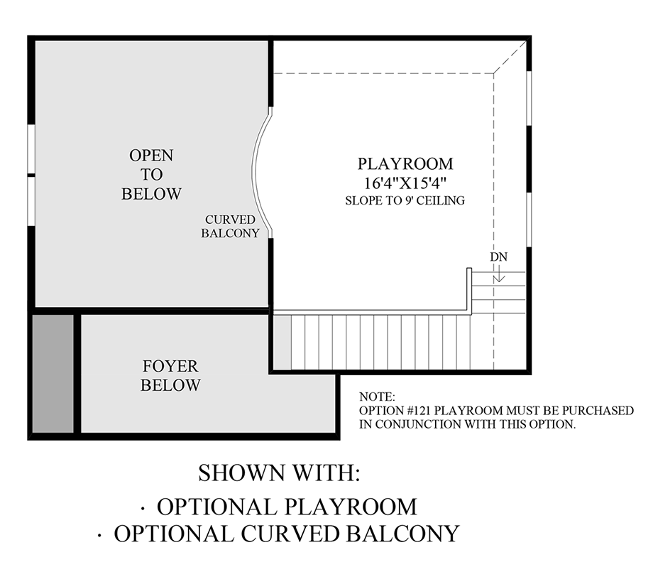 Optional Playroom & Curved Balcony Floor Plan