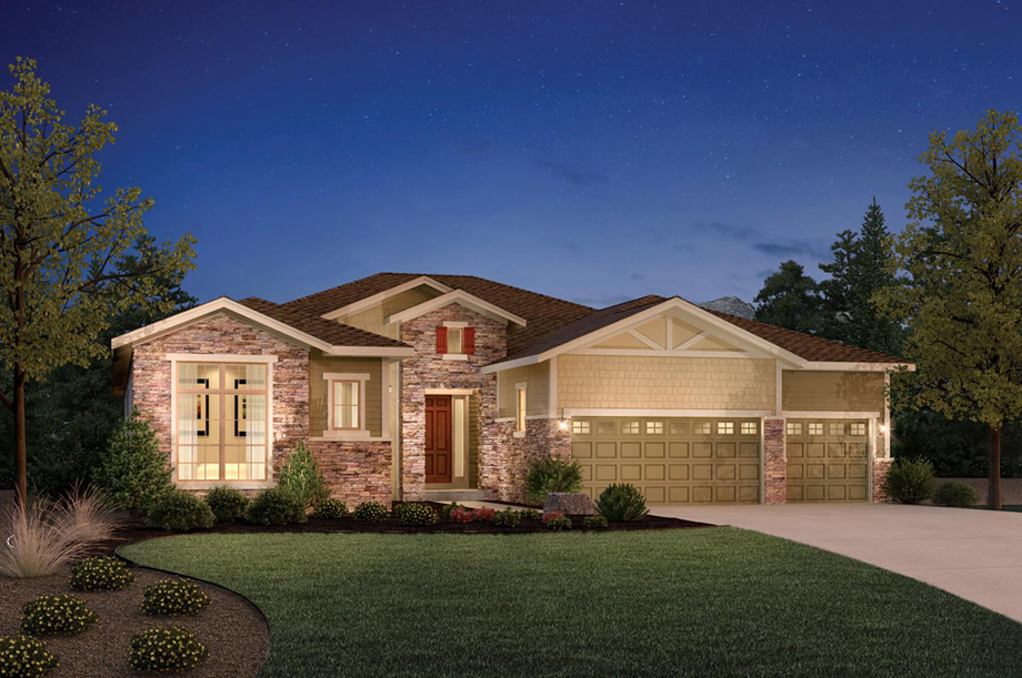 Aurora co active adult community toll brothers at for Modern homes colorado
