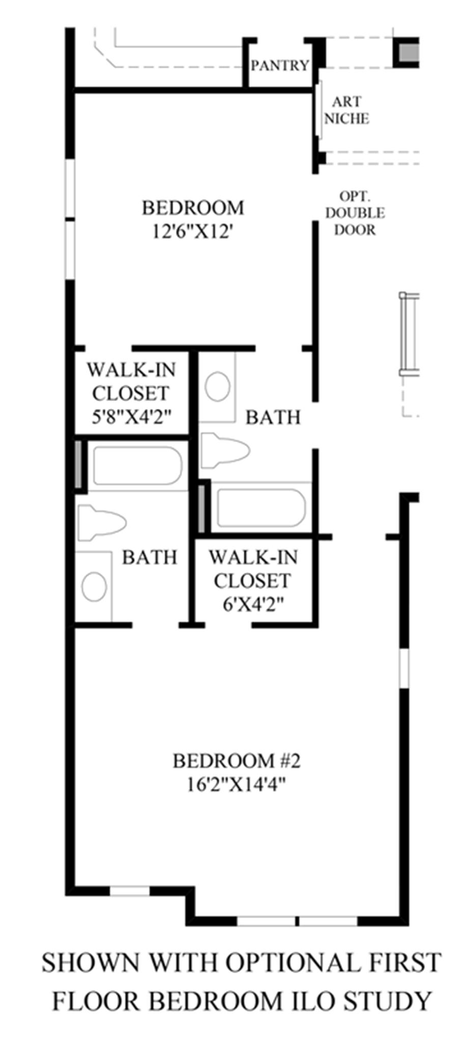 Optional 1st Floor Bedroom ILO Study Floor Plan