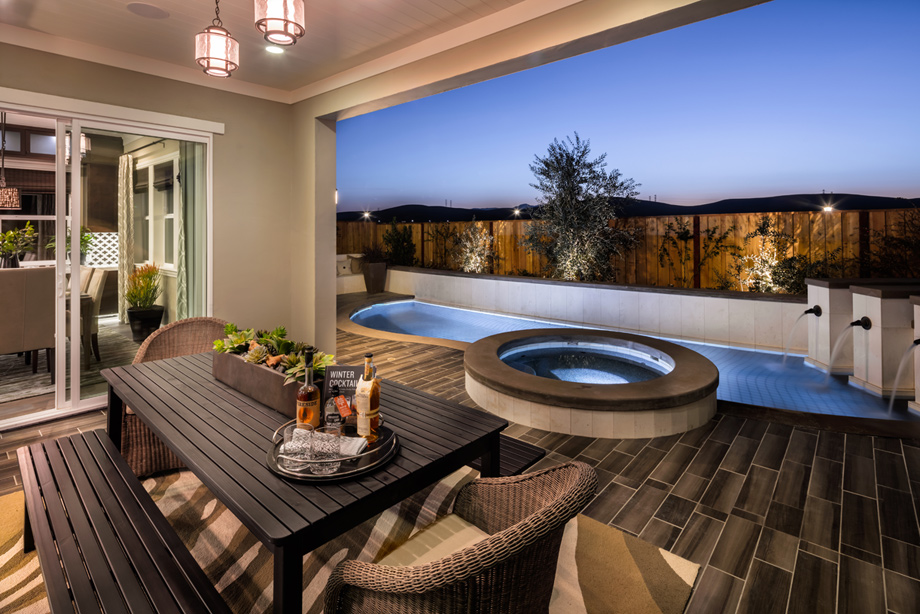 Romana at gale ranch the montara ca home design for Cost of outdoor living space