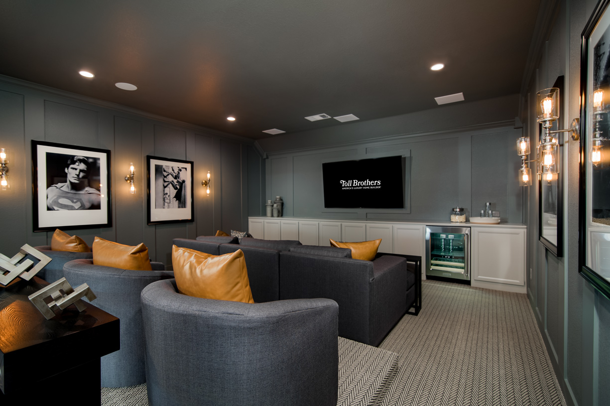 Optional media room provides extra room for entertaining