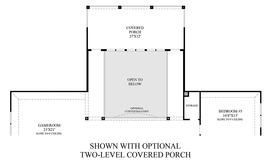 Optional 2-Level Covered Porch Floor Plan