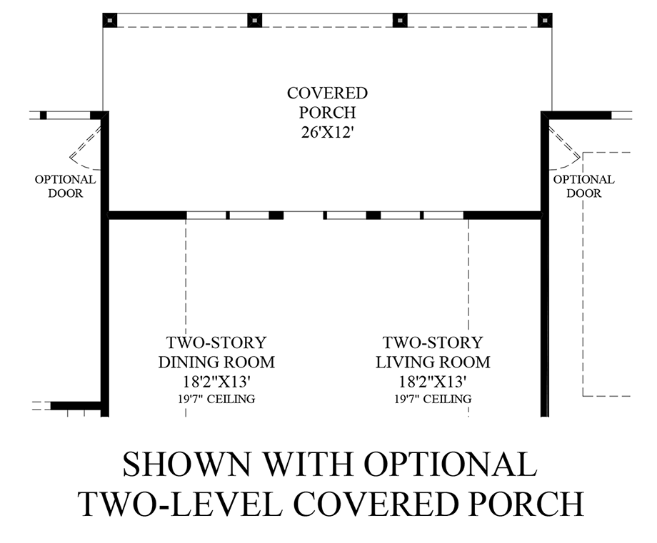 Optional Covered Porch Addition (1st Floor) Floor Plan