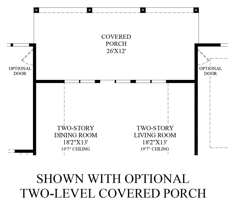 Optional 2-Level Covered Porch - 1st Floor Floor Plan