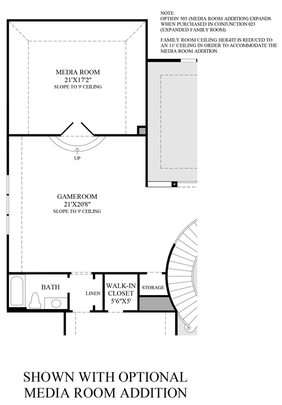 Optional Media Room Floor Plan