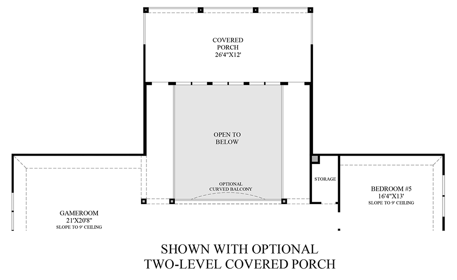 Optional Two-Level Covered Porch Floor Plan