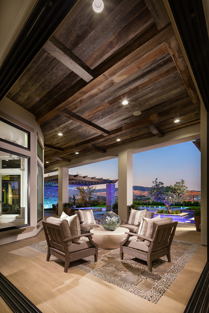Iron oak at alamo creek the monterey ca home design for Luxury outdoor living spaces