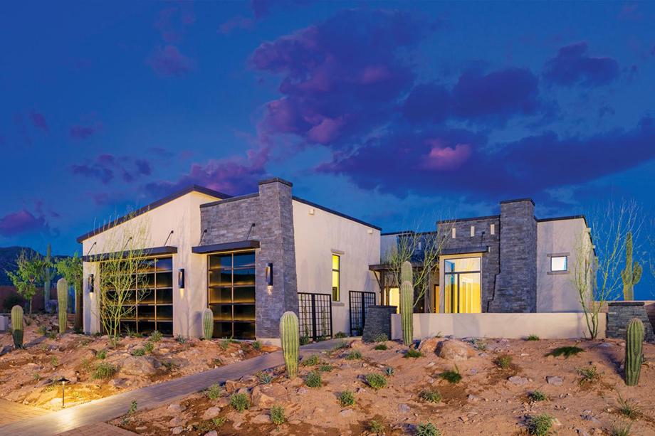 Calliandra estates the montierra home design for Modern homes arizona