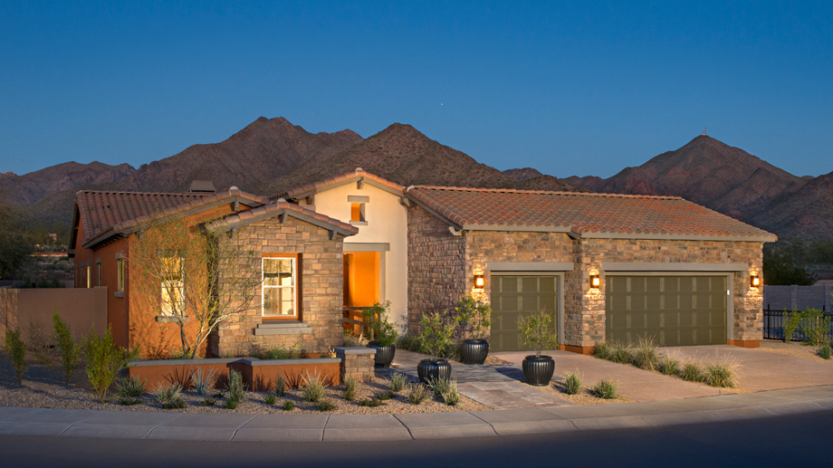 Windgate ranch scottsdale desert willow collection the for Ranch model homes