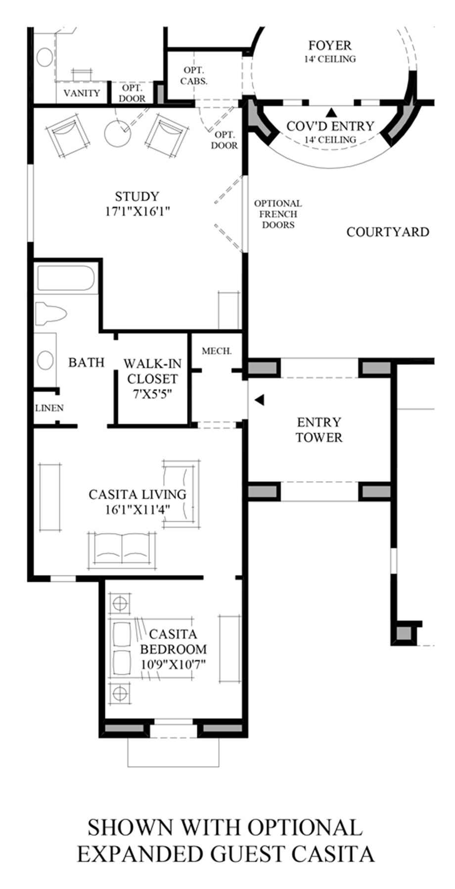 Optional Expanded Guest Casita Floor Plan