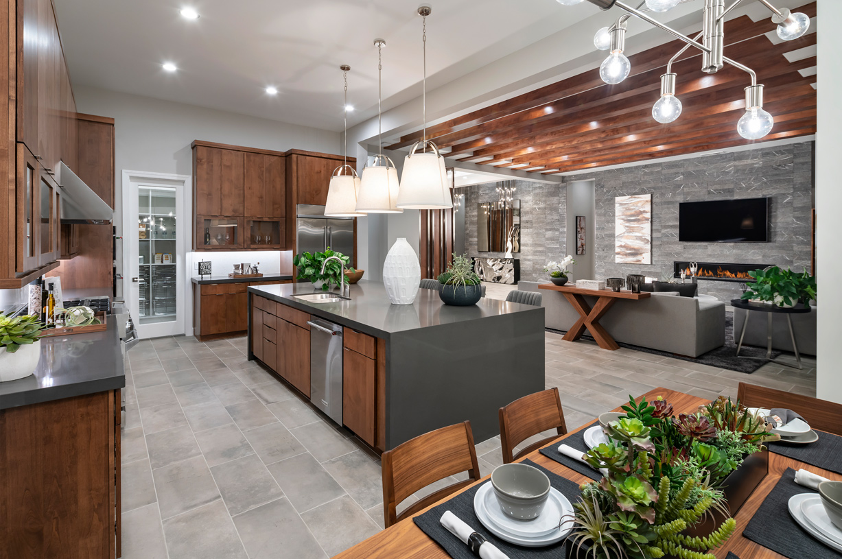 Luxury open concept floor plans ideal for entertaining
