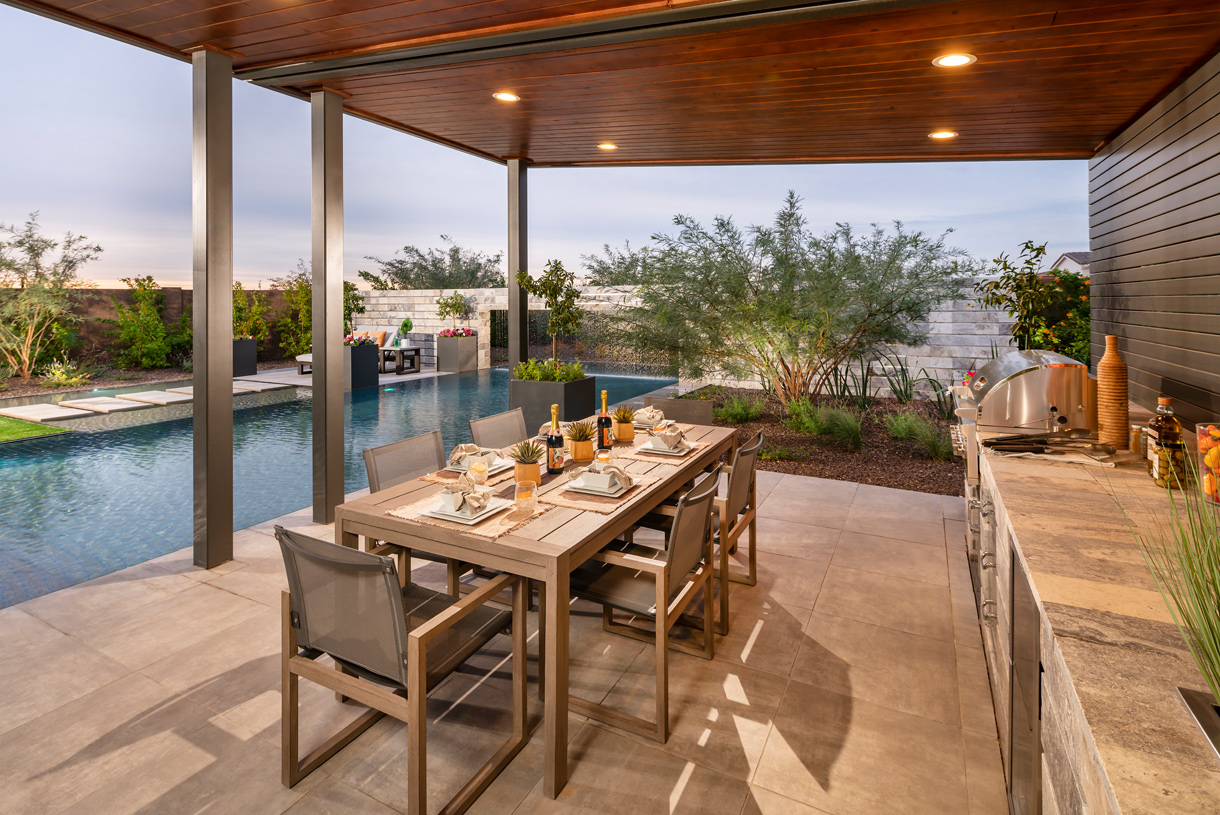 Covered patios for outdoor grilling