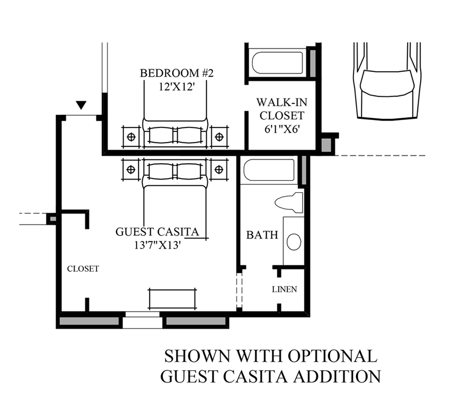 Optional Guest Casita Additiona Floor Plan