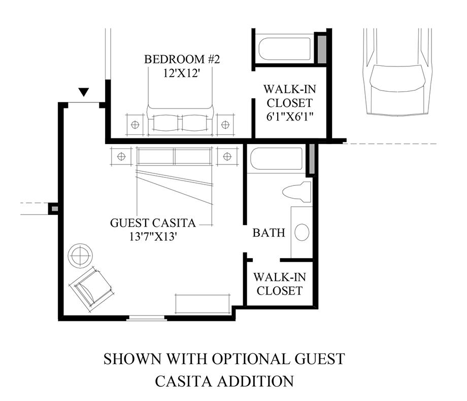 Optional Guest Casita Addition Floor Plan