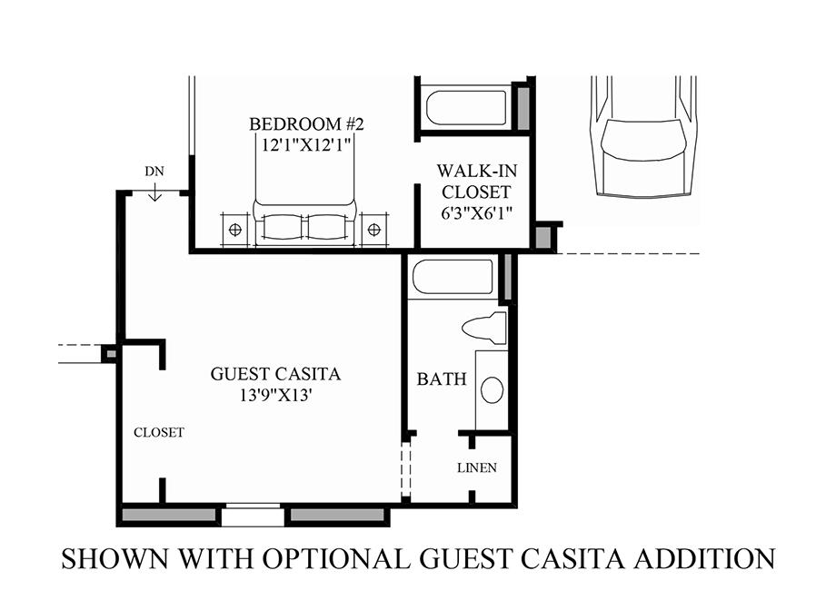 Montilla on Desert Home Floor Plans With Casita