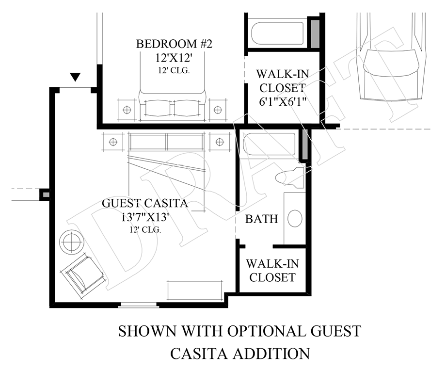 Optional Guest Casita Addition Floor Plan