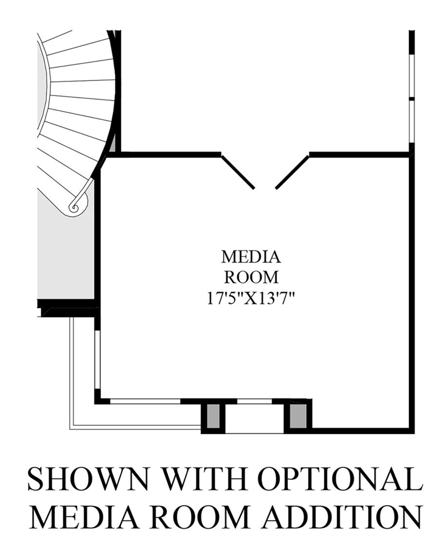 Optional Media Room Floor Plan