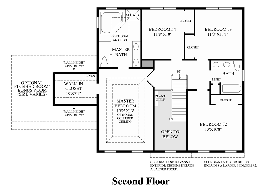 Bowes creek country club the fairways collection the for Nantucket floor plan