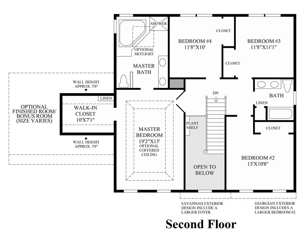 New luxury homes for sale in new castle de high pointe Nantucket floor plan