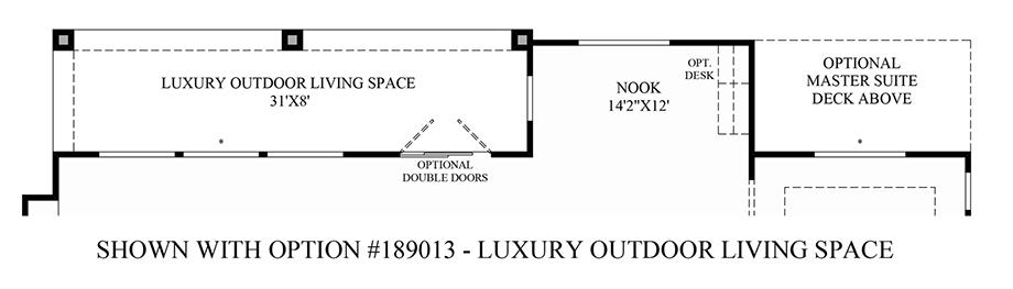 Optional Luxury Outdoor Living Space Floor Plan