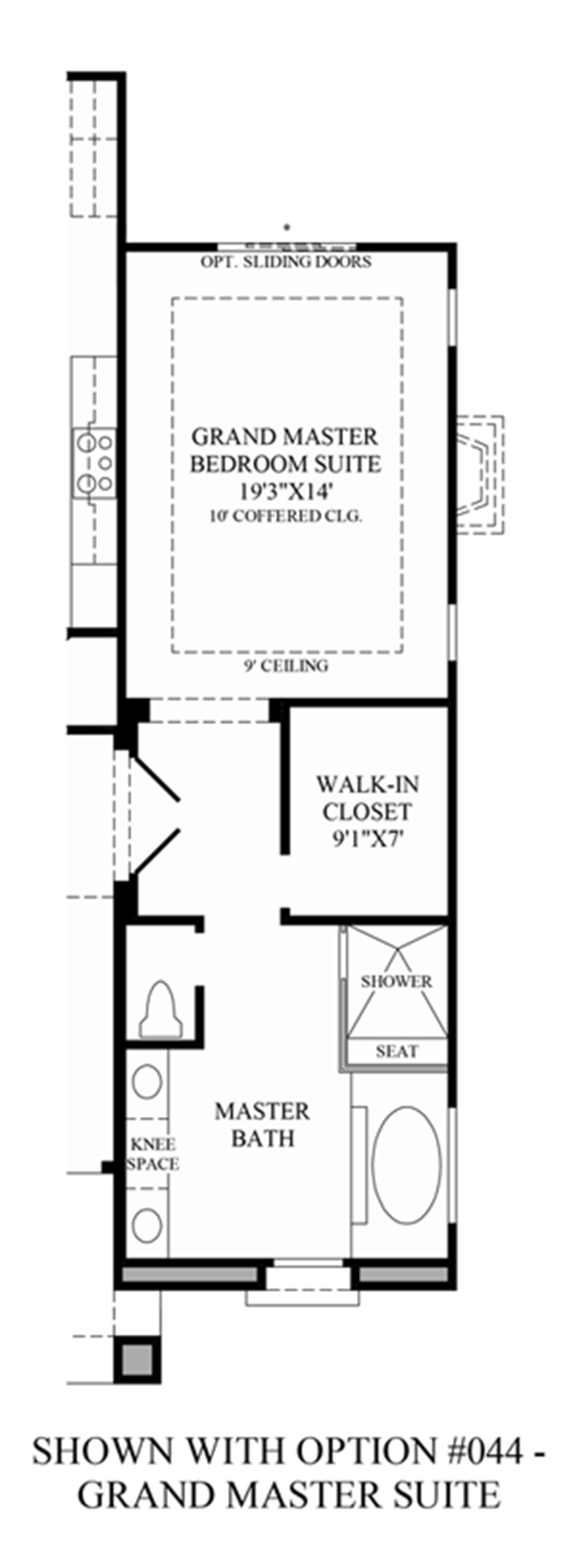 Optional Grand Master Sutie Floor Plan