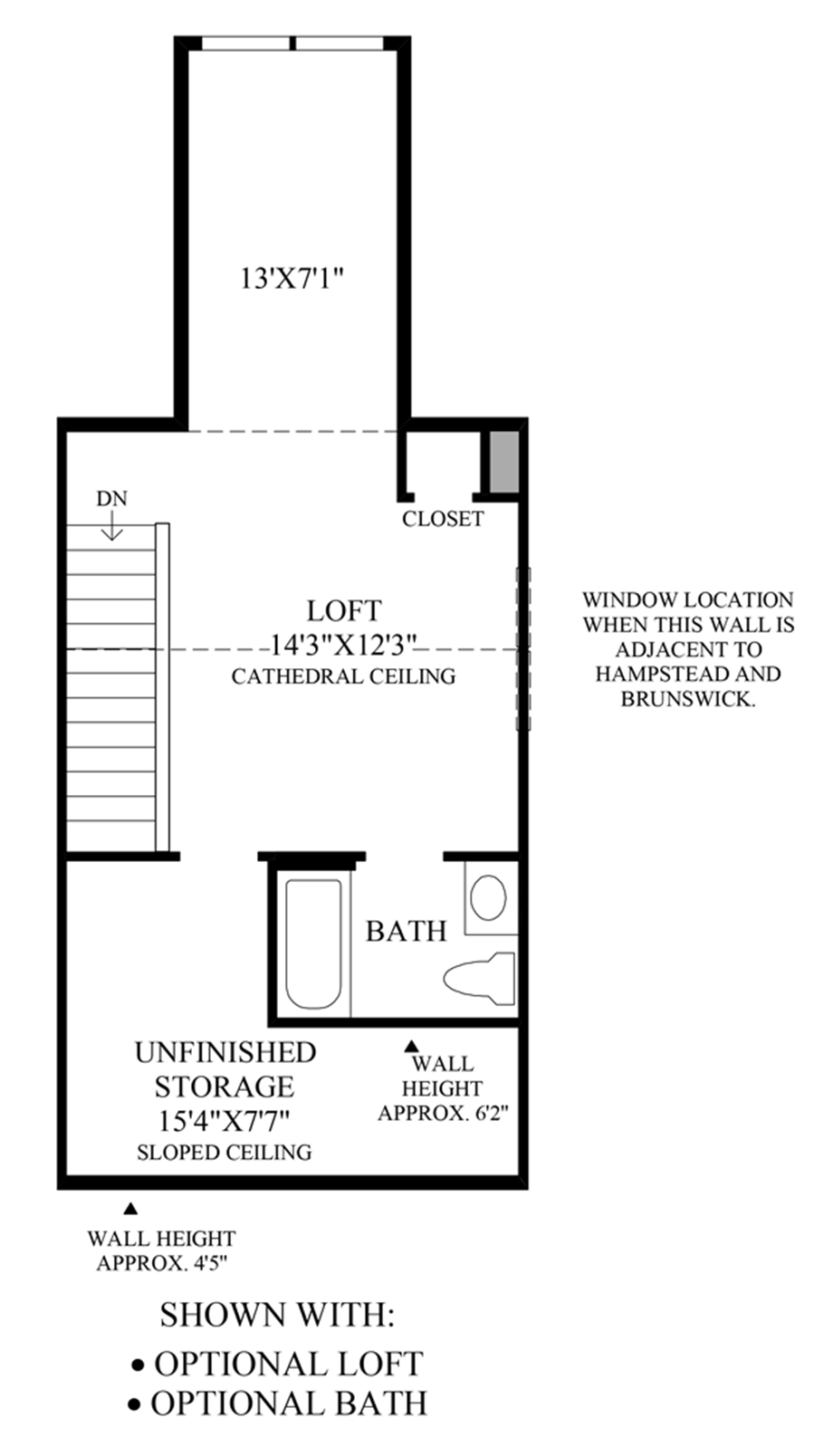 Optional Loft & Bath Floor Plan