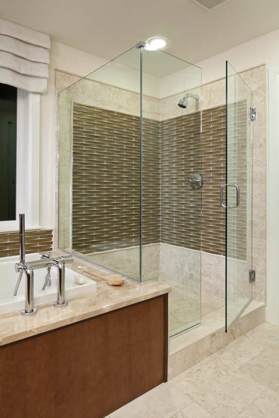 5-piece master bath features separate shower and dual sink vanity
