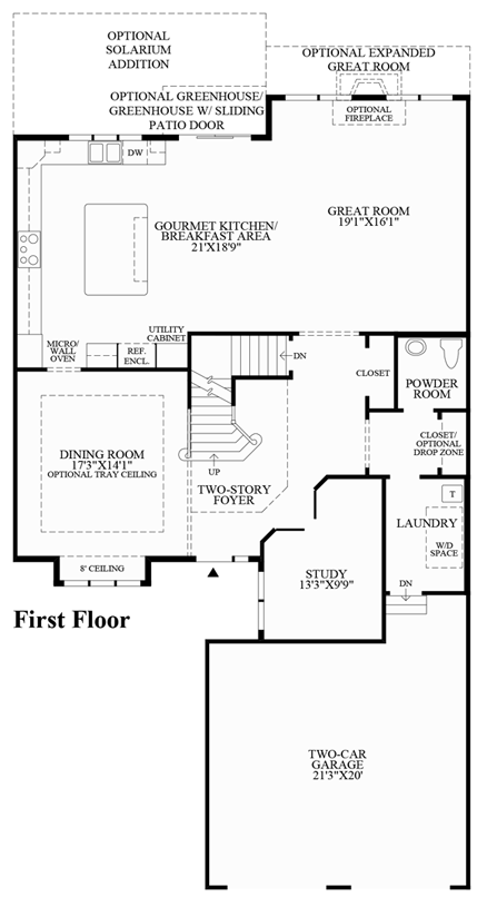Reserve at franklin lakes carriages collection the for Gourmet kitchen floor plans