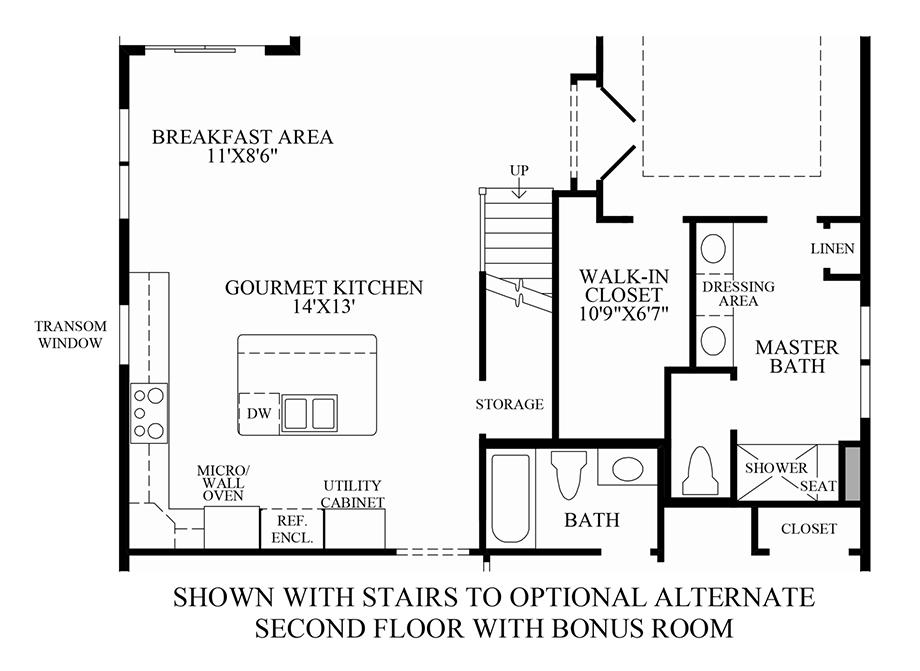 Optional Stairs to Alternate 2nd Floor w/ Bonus Room Floor Plan