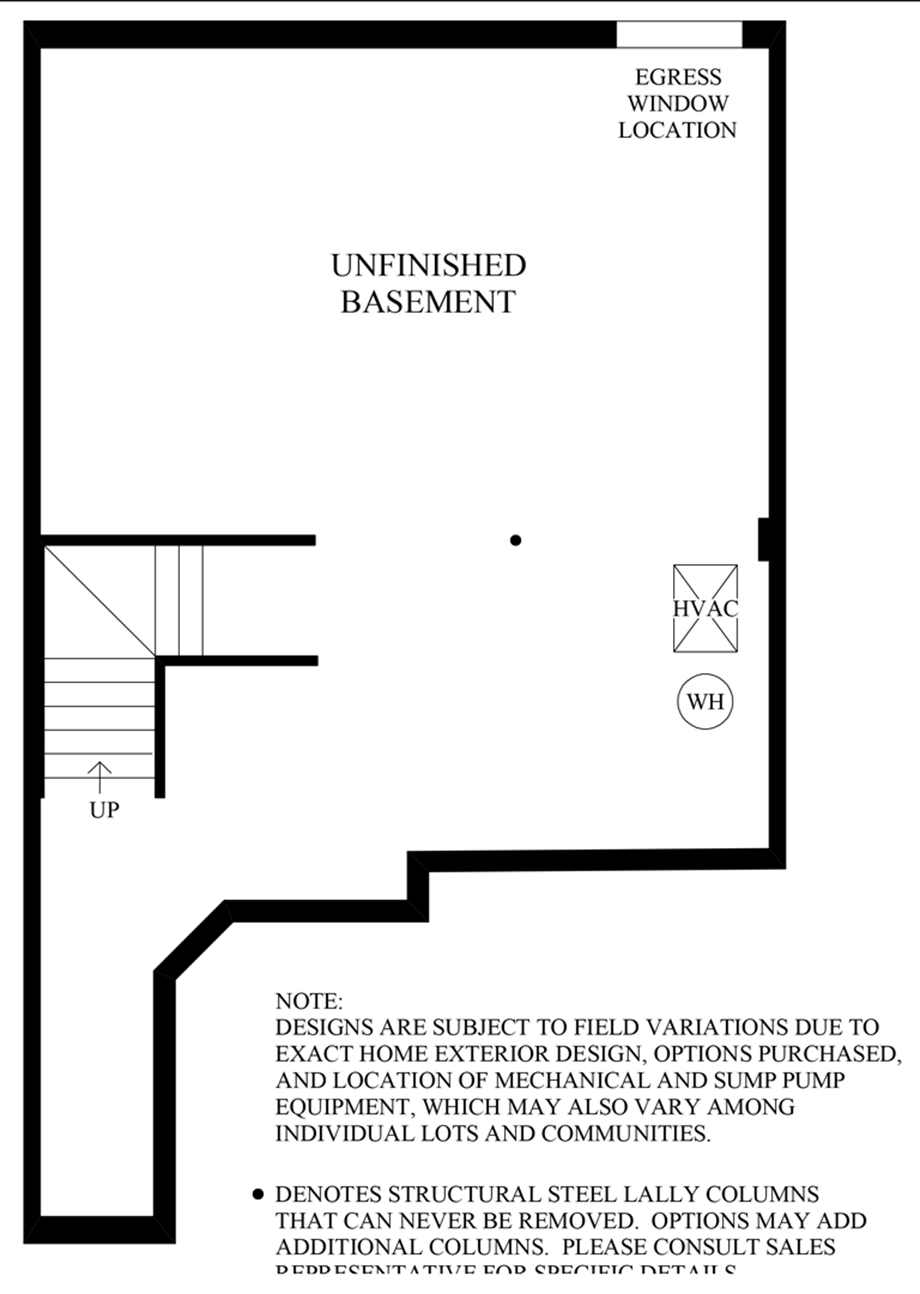 Unfinished Basement Floor Plan