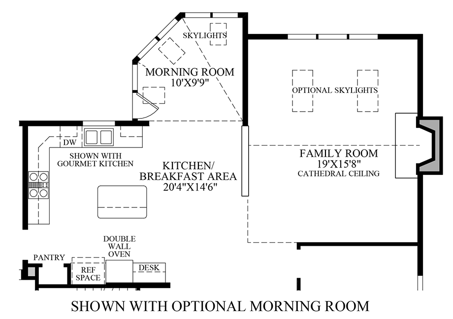 Optional Morning Room Floor Plan