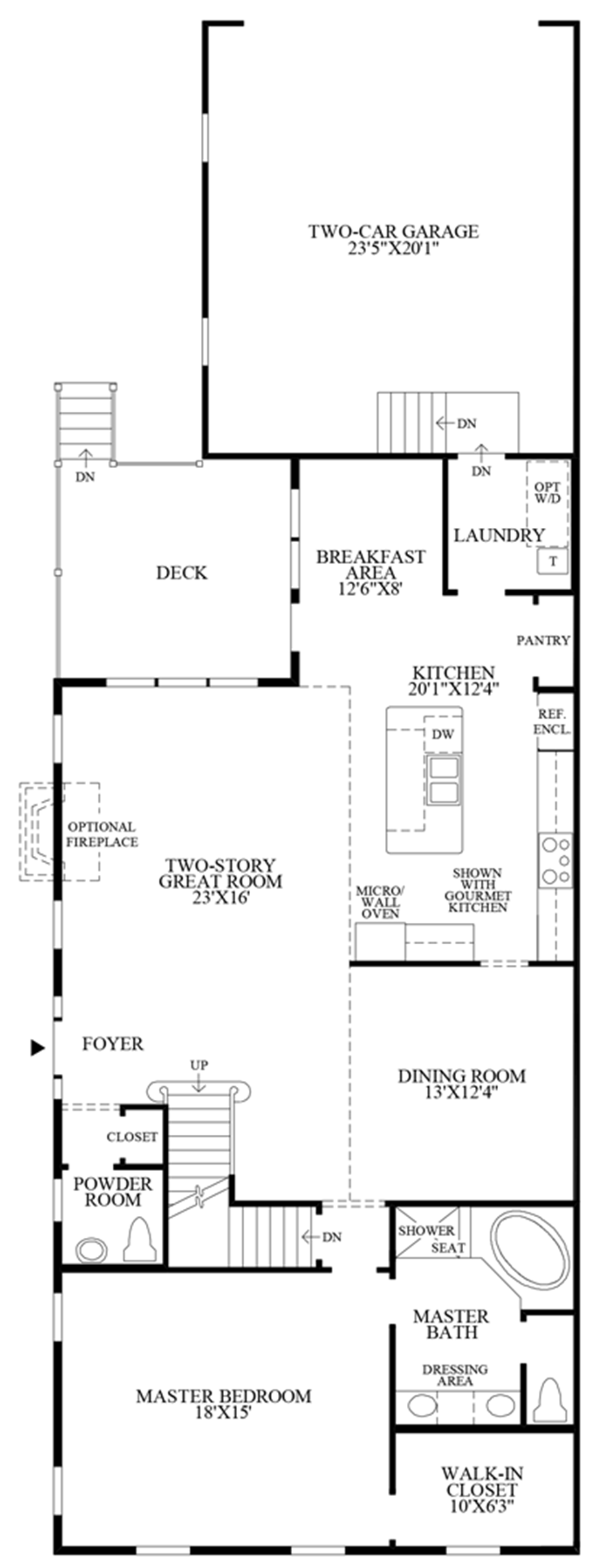 Alternate Master Bath Floor Plan