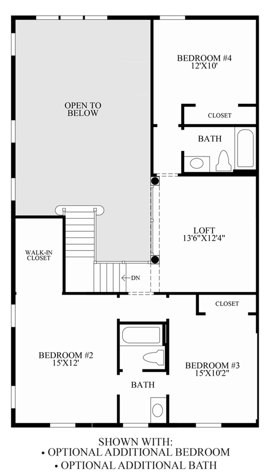 Optional Additional Bedroom Bath Floor Plan