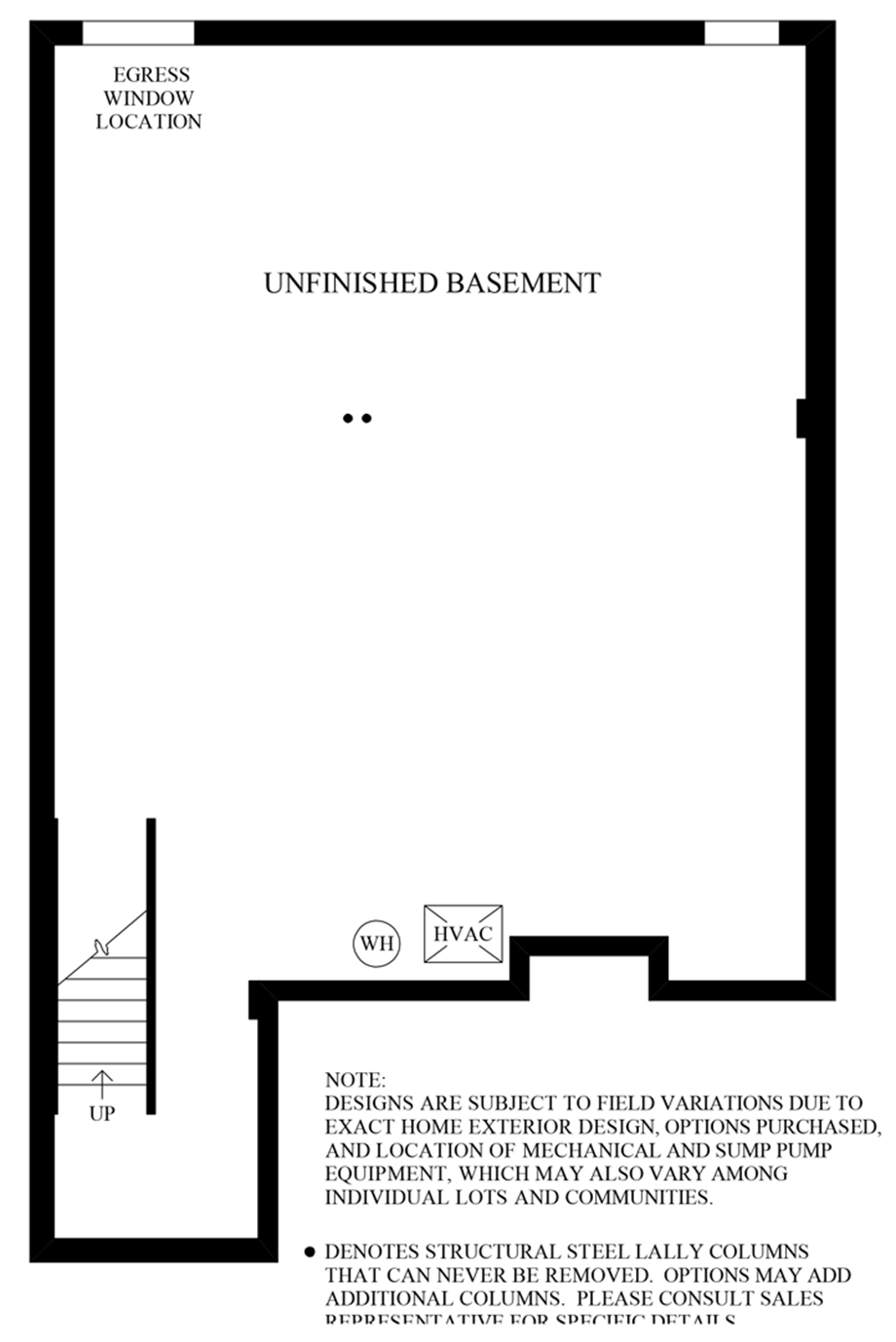 Unfinished Basement Floor Plan