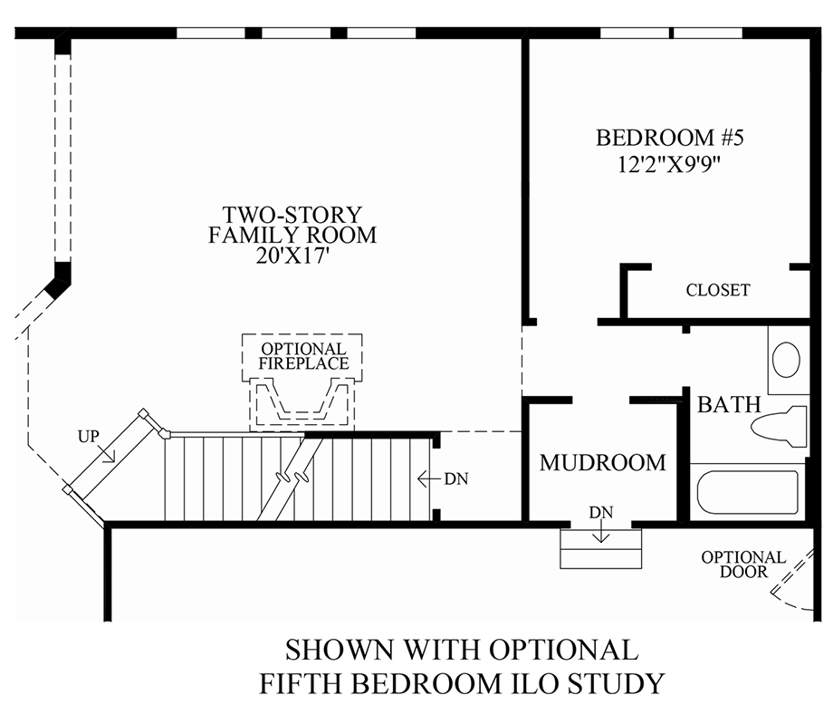 Optional 5th Bedroom ILO Study Floor Plan