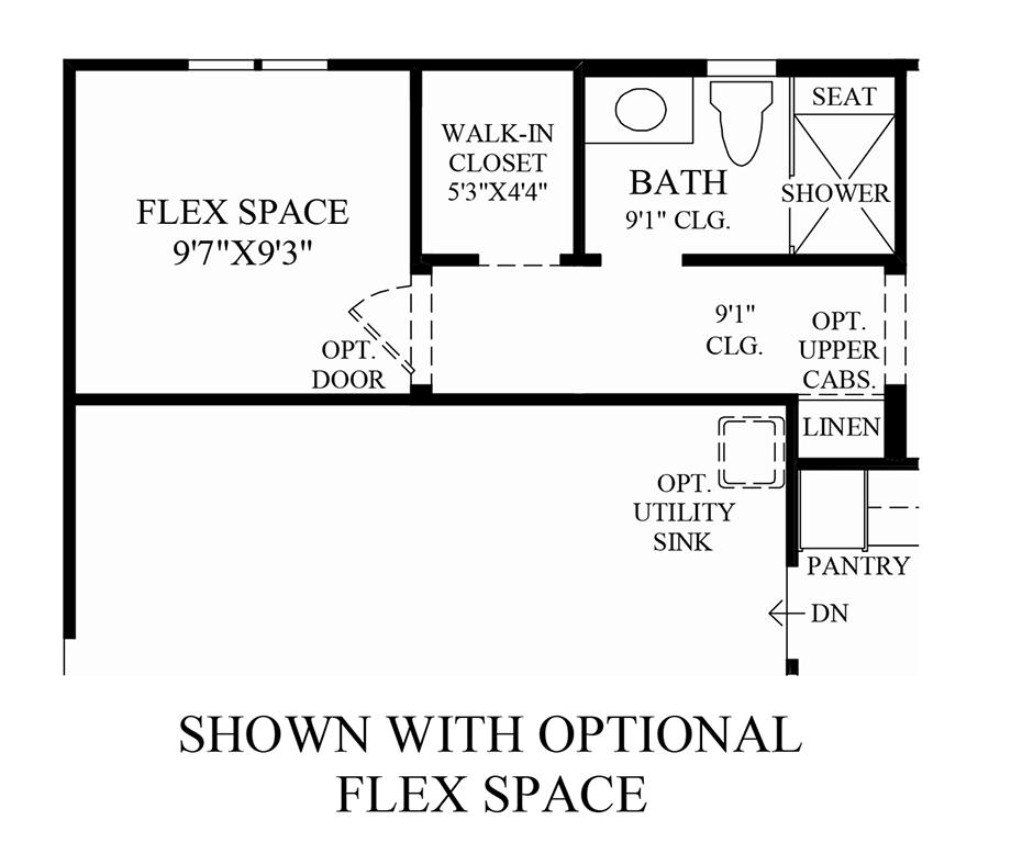 Optional Flex Space Floor Plan