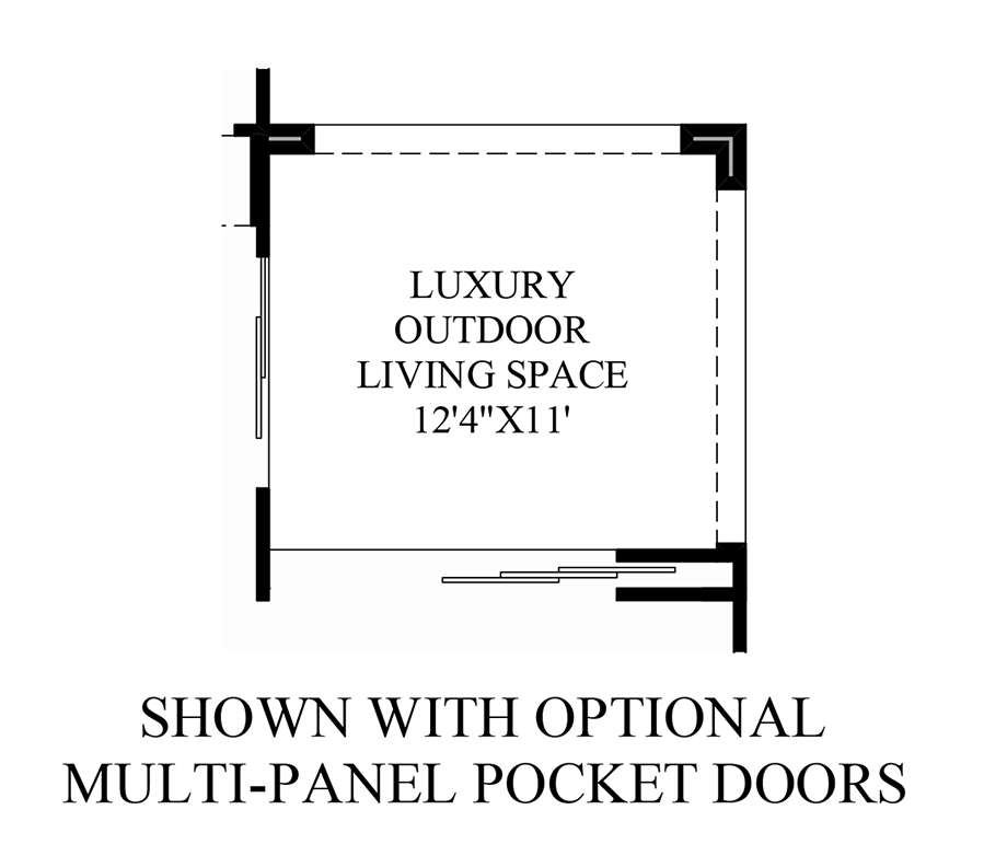 Optional Multi-Panel Pocket Doors Floor Plan