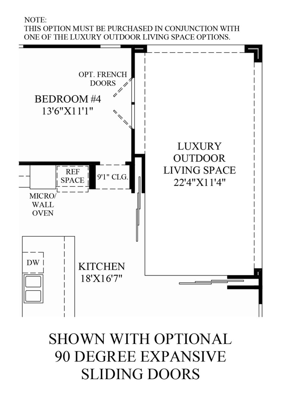 Optional Sliding Doors Floor Plan