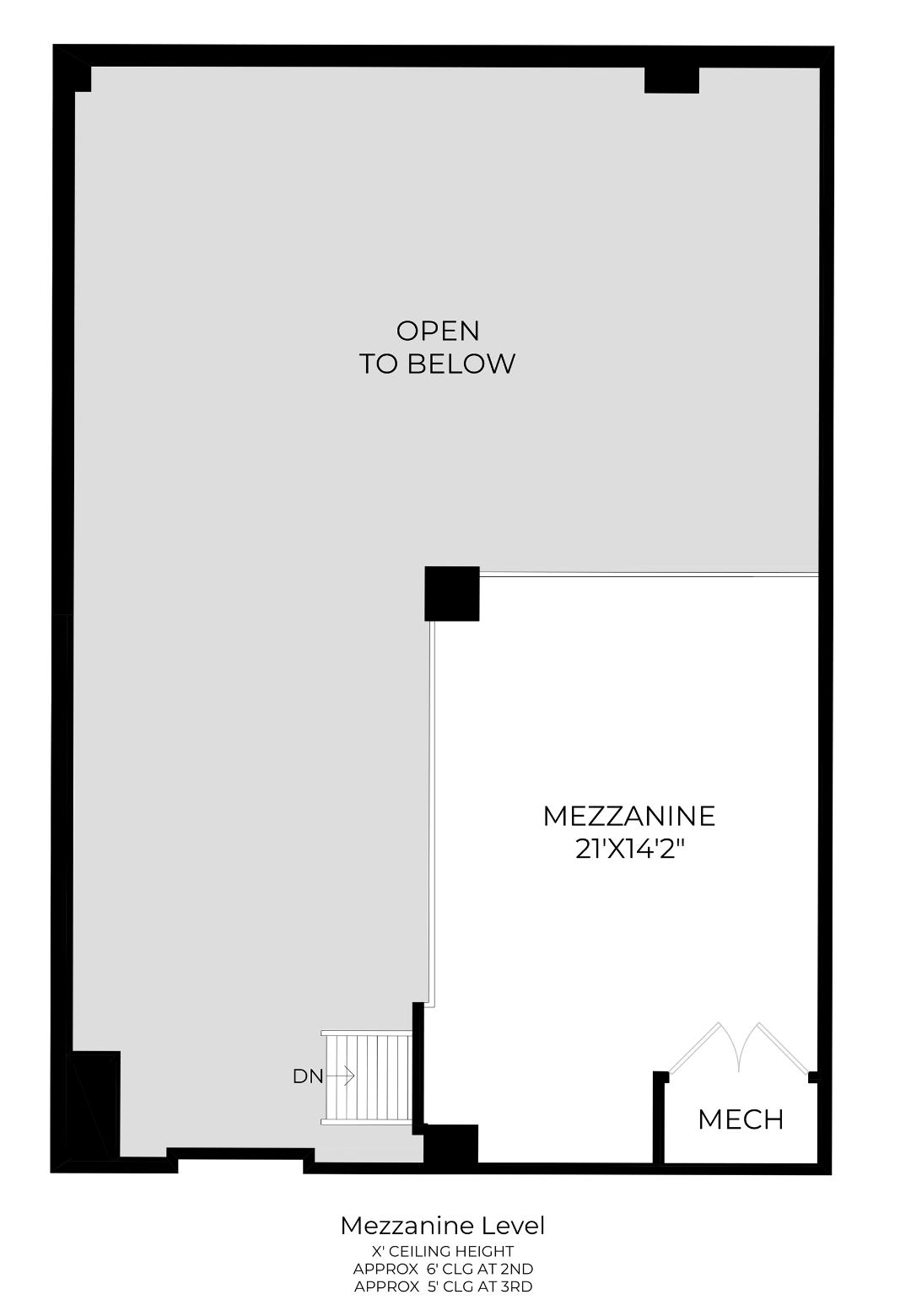 Mezzanine Level Floor Plan