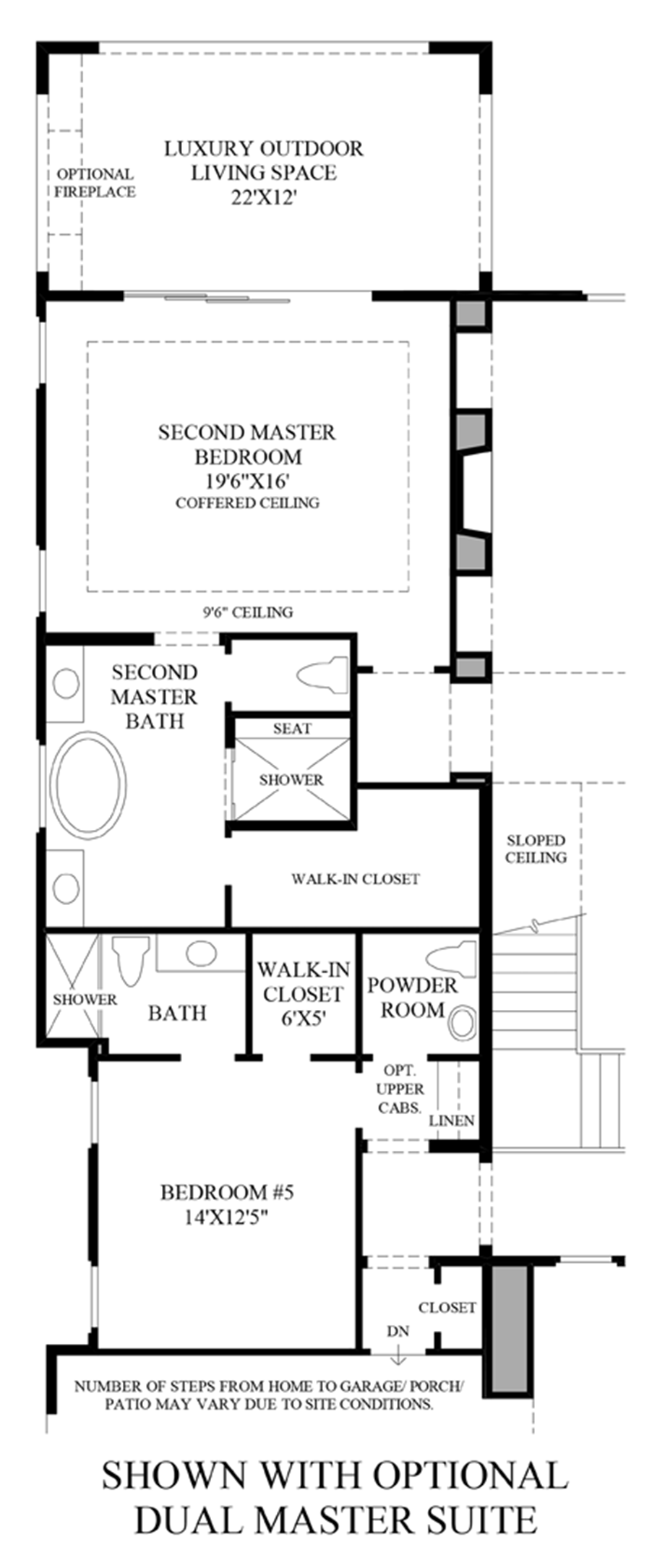 Optional Dual Master Suite Floor Plan