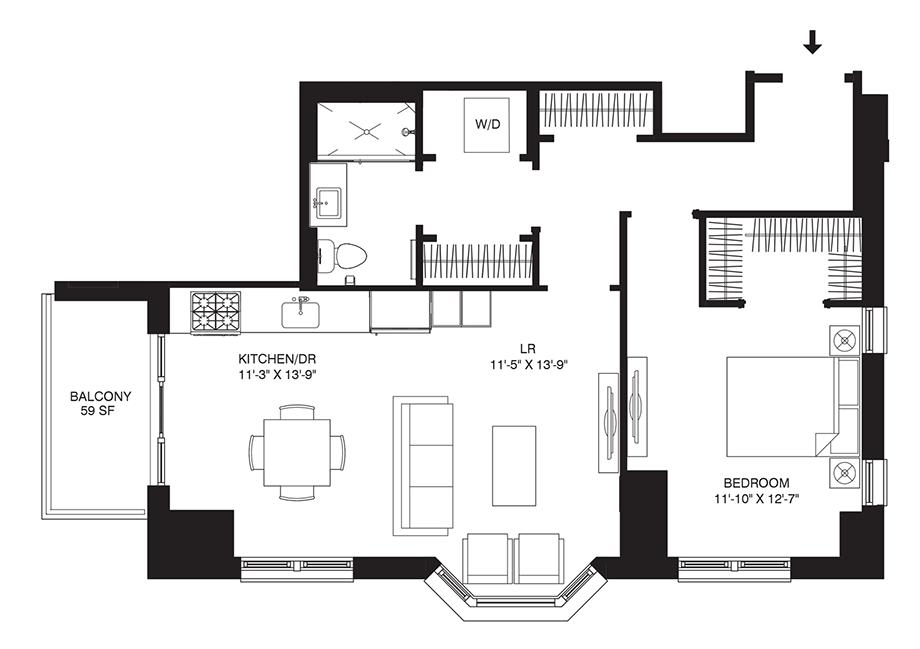 Residence 106 Floor Plan