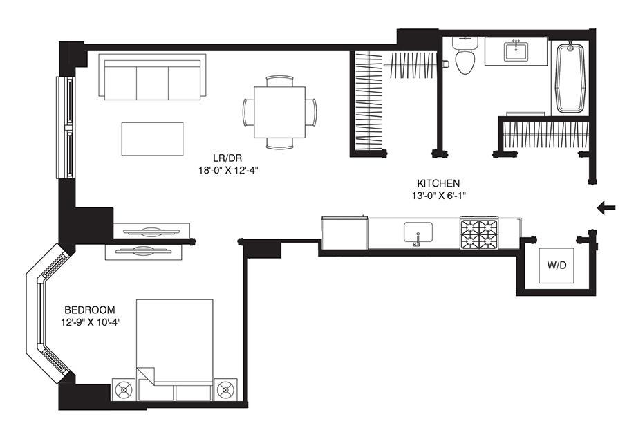 Residence 107 Floor Plan