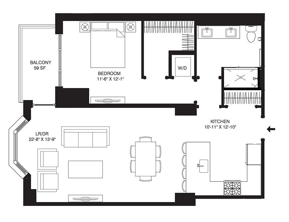 Residence 108 Floor Plan
