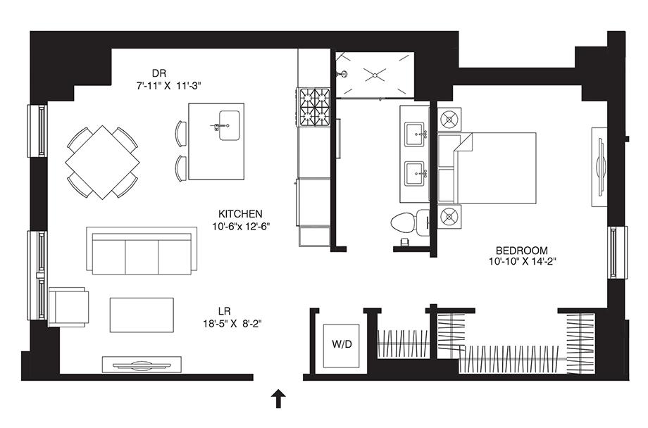 Residence 109 Floor Plan