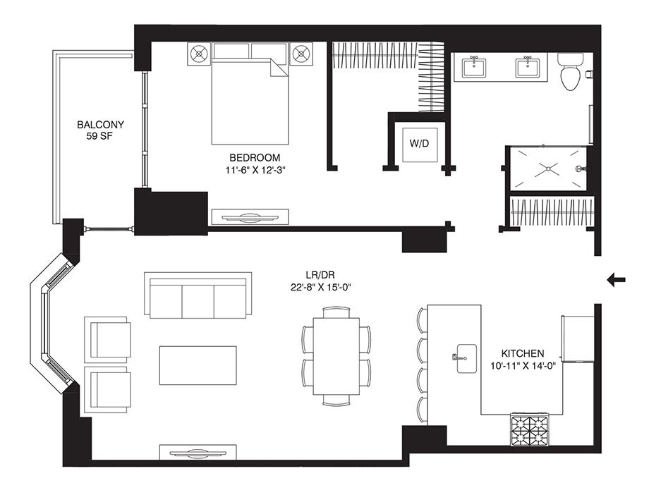 Residence 207 Floor Plan