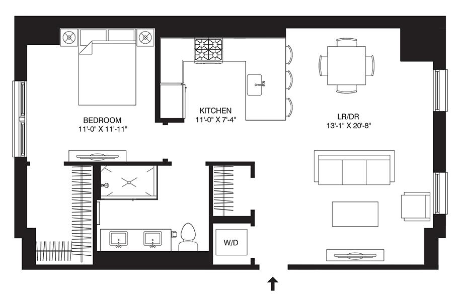 Residence 209 Floor Plan